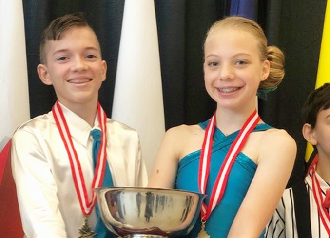 Heather Nunn and Ben Vatcher won the gold medal in the pre-juvenile dance at Skate Canada's 2019 Sectionals Championships Nov. 3, in Calgary. Photo Submitted/For Rocky View Publishing