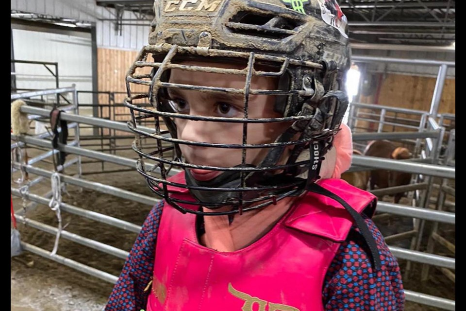 Airdrie cowboy Gavin Rose, nine, will compete against international competition next month. Photo submitted/For Airdrie City View.