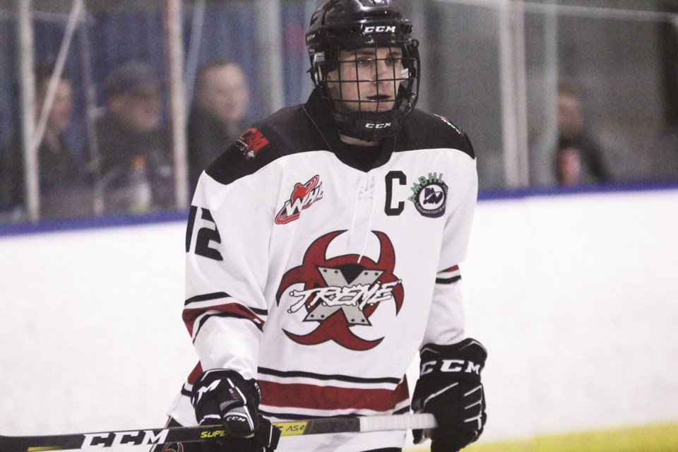 Airdrie Xtreme captain Grady Hauk will be the team's sole representative at the AMBHL All-Star Game Jan. 11 in Edmonton. Photo by Scott Strasser/Airdrie City View