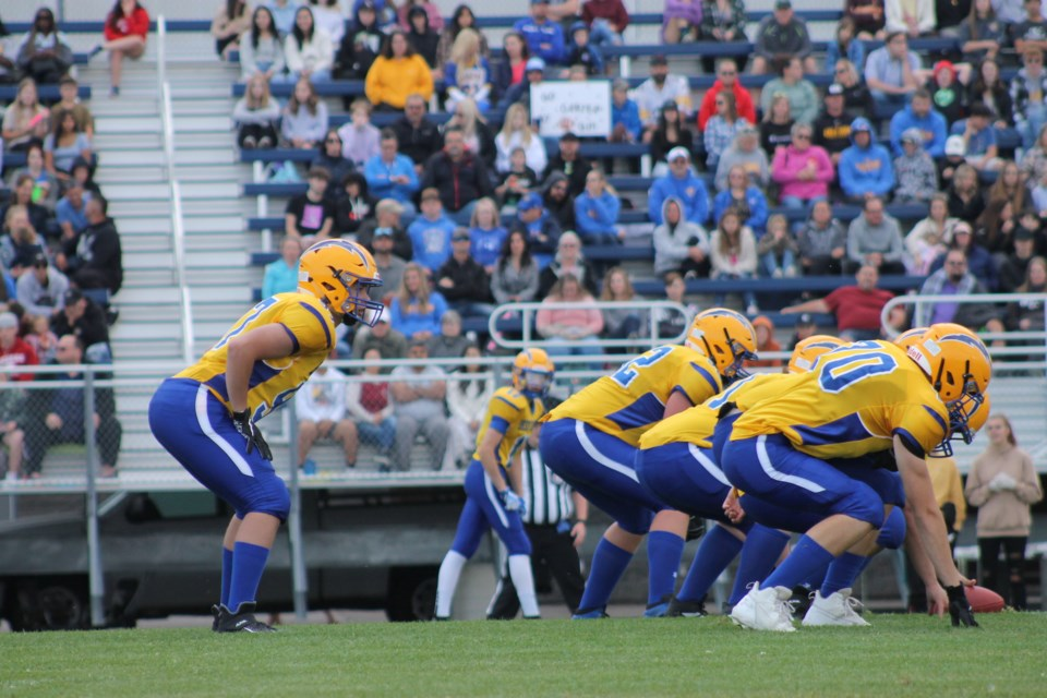The Bert Church Chargers took on the Chestermere Lakers on Aug. 27, marking the teams' first game in nearly two years.