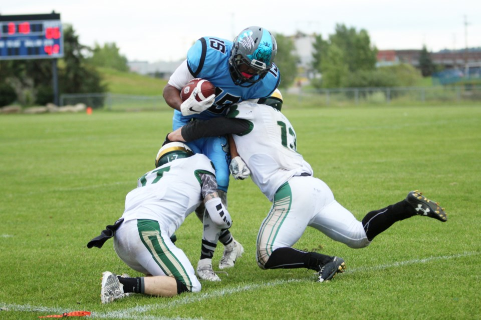 The Airdrie Irish will not play any games this year, after the Alberta Football League council voted unanimously to call off the 2020 season due to the COVID-19 pandemic. File photo/Airdrie City View.