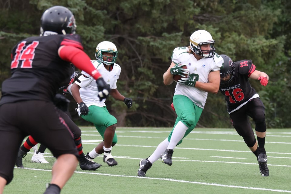 The Airdrie Irish men's football team's season is over, following a 46-6 loss at the hands of the Central Alberta Buccaneers on Aug. 21.