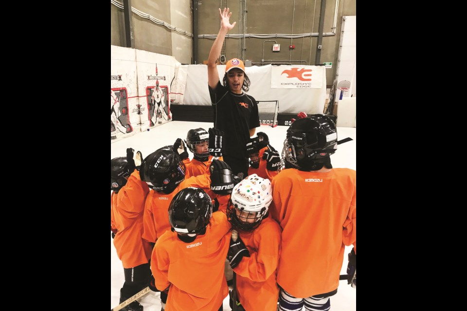 Before he was killed in February 2020, Kalix Langenau was a hockey goalie coach for the Explosive Edge in Airdrie.
