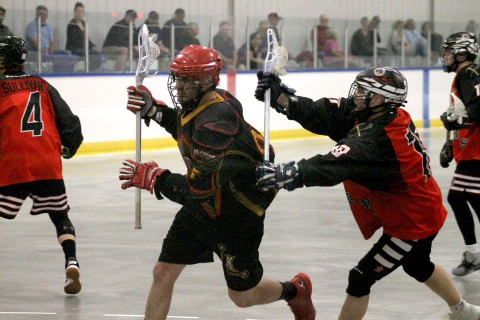 The Rockyview Knights senior B men's lacrosse team is back in action after the 2020 Rocky Mountain Lacrosse Season was cancelled due to COVID-19.