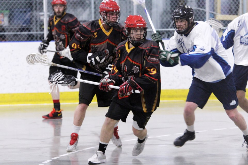 The Rockyview Knights senior B men's lacrosse team opened the 2019 season with an 8-6 victory over the Calgary Mountaineers, at the Plainsmen Arena. 
