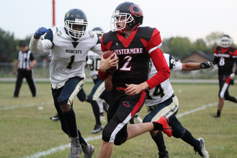 The Chestermere Lakers won its opening game of the 2019 RVSA football season Sept. 6, downing the Bow Valley Bobcats 40-0. 