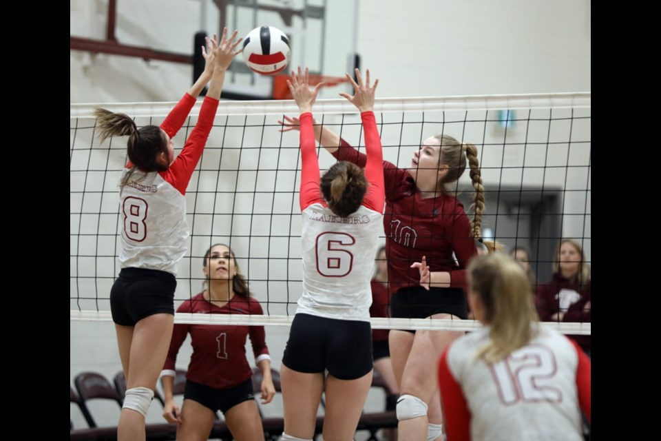 The Chestermere Lakers senior girls' volleyball team finished the season with a 10th-place showing at the 4A ASAA provincial championships, Nov. 22 to 24. Photo by Bruce Campbell/Great West Newspapers