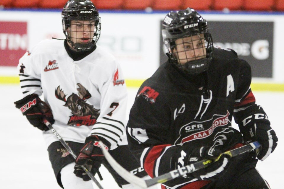 The Airdrie CFR Chemical Bisons will be among the many local sports teams putting the brake on games and practices until Nov. 27. File photo/Airdrie City View.