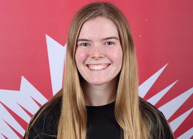 Dalemead's Marla Wheeler is playing for the Canadian junior national team at the 2019 Ringette World Championships, Nov. 25 to 30 in Burnaby, B.C. Photo Submitted/For Rocky View Publishing