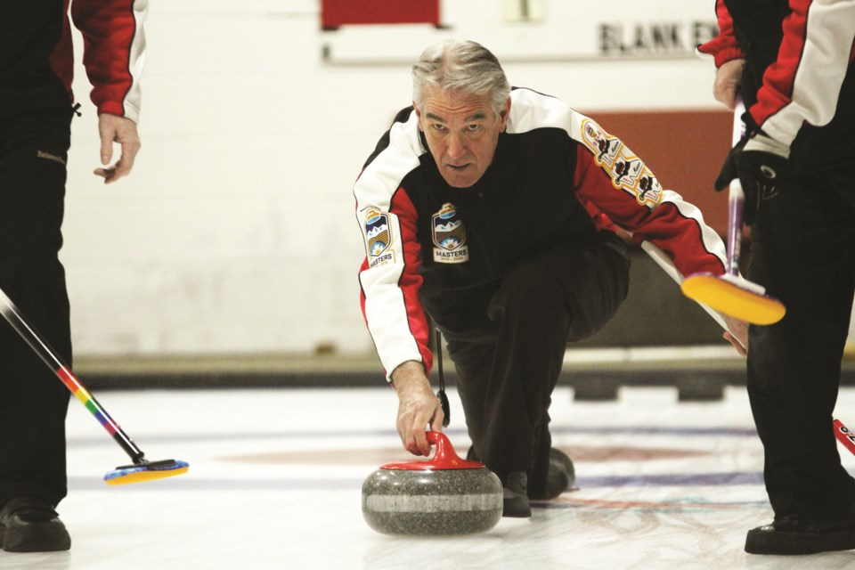 Curling Alberta's Masters Championships were held in Airdrie March 4 to 8, featuring the province's top curlers aged 60 and older. The bonspiel included local rinks such as Team Goodman (pictured). Photo: Scott Strasser/Airdrie City View