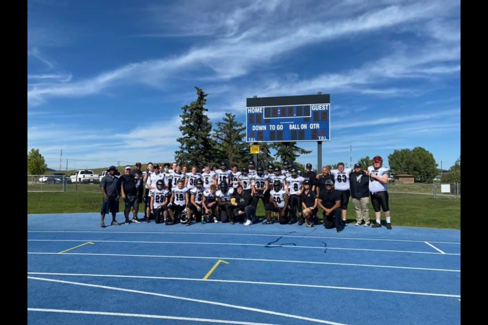 The George McDougall Mustangs football team claimed a 43-16 win over the W.H. Croxford Cavaliers on Sept. 4.