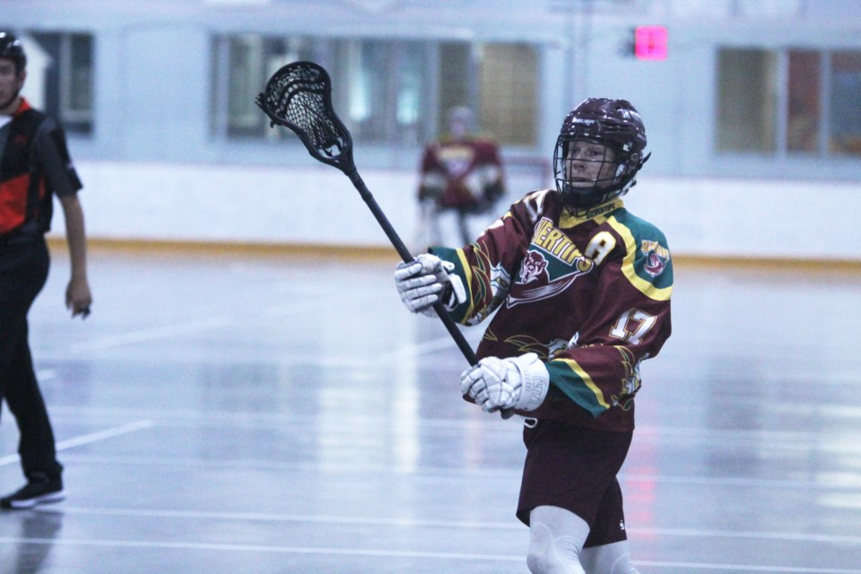 Second-year forward Nolan Oakey led the scoring charts in the RMLL Jr. B Tier 1 Central Division in 2019.  Photo by Scott Strasser/Rocky View Publishing