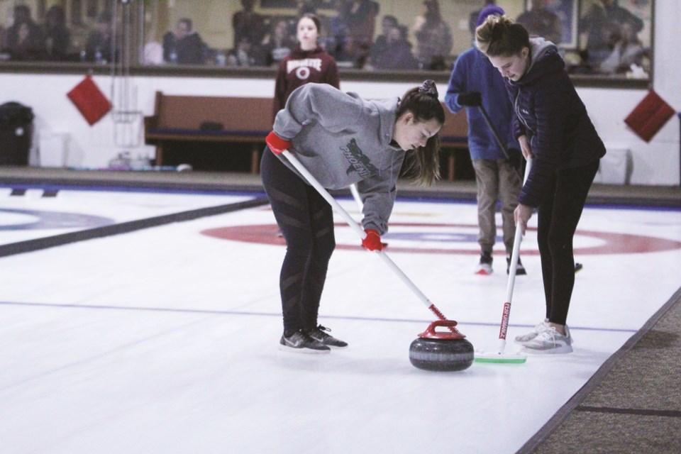The Rocky View Schools divisional curling high-school championships took place Jan. 31 to Feb. 5 at the Airdrie Curling Club. Photo by Scott Strasser/Airdrie City View