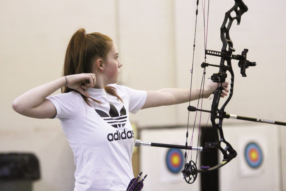 Archer Sage Wilkins, 12, will be the sole athlete from Crossfield at the 2020 Alberta Winter Games. Photo by Scott Strasser/Rocky View Weekly