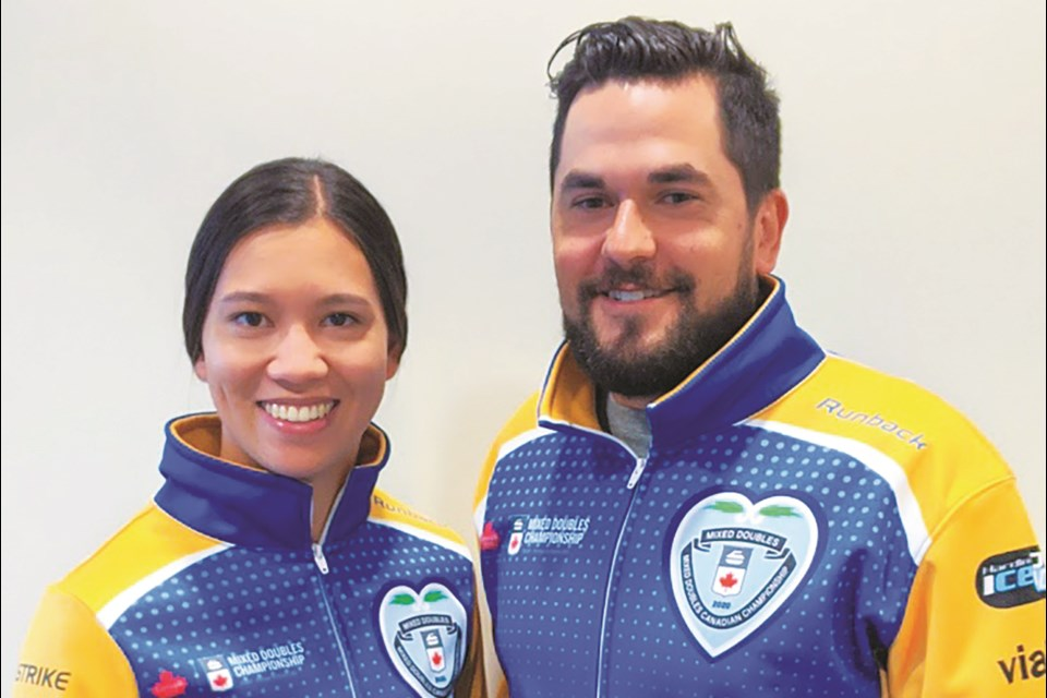 Airdrie curler Aaron Sluchinski will compete in Canada's mixed doubles national championship in March, alongside Calgarian Brittany Tran.