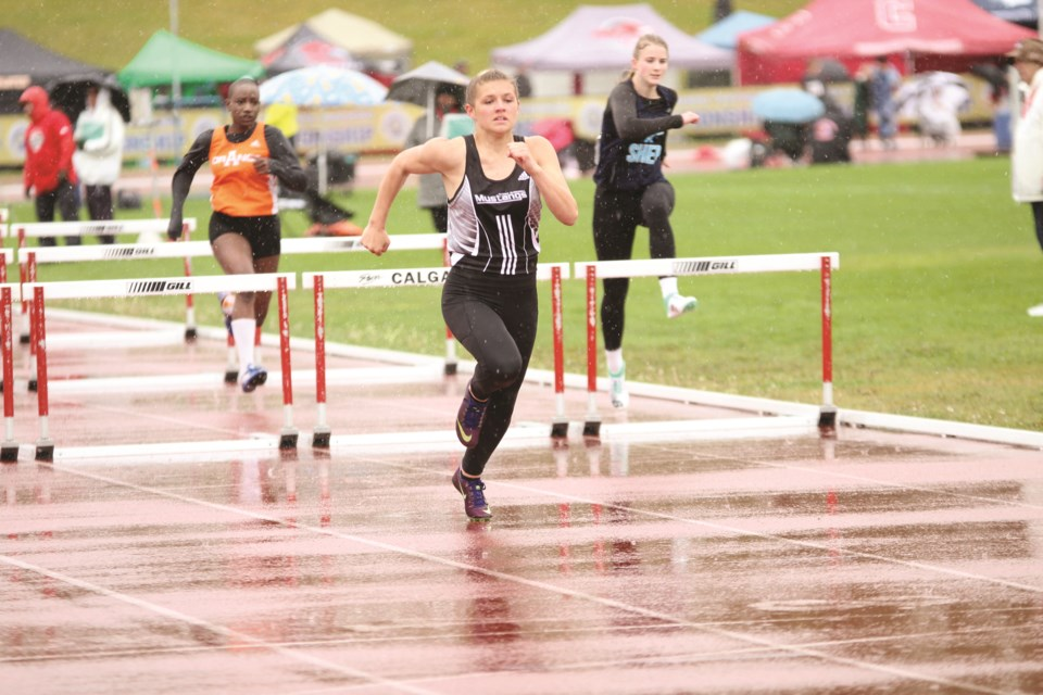 George McDougall graduate Sienna MacDonald is heading to the University of Calgary Dinos track and field team in 2020. File photo/Airdrie City View.
