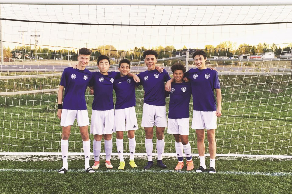 Six 2006-born members of Springbank Soccer Club will train with an elite Vancouver Whitecaps-affiliated academy this winter. Photo submitted/For Rocky View Weekly.