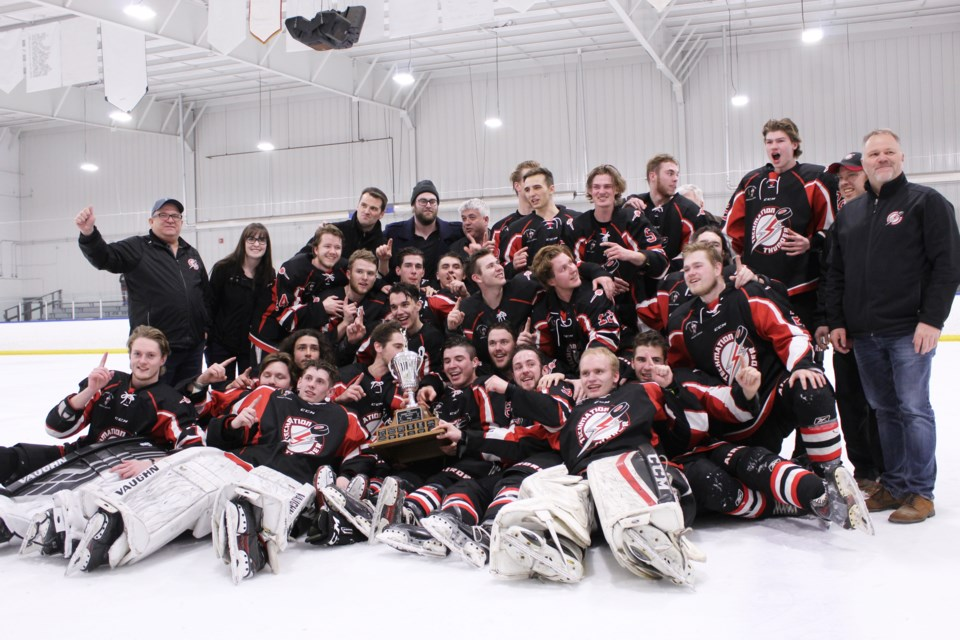 The Airdrie Techmation Thunder won both the Heritage Junior Hockey League and the provincial Junior B championship last season. 