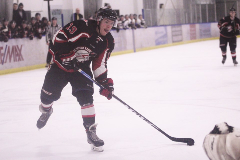 Jason Horn is one of nine players returning to the Thunder this season. File photo/Airdrie City View.