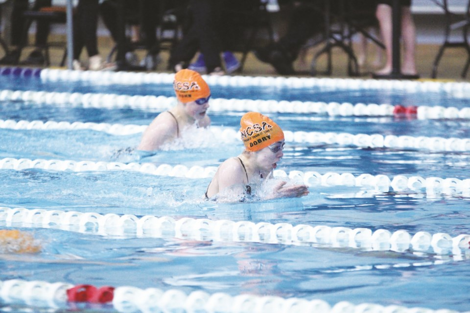 The Nose Creek Swim Association is an Airdrie-based swim club that trains and competes out of either Genesis Place Recreation centre or the Repsol Sport Centre in Calgary.