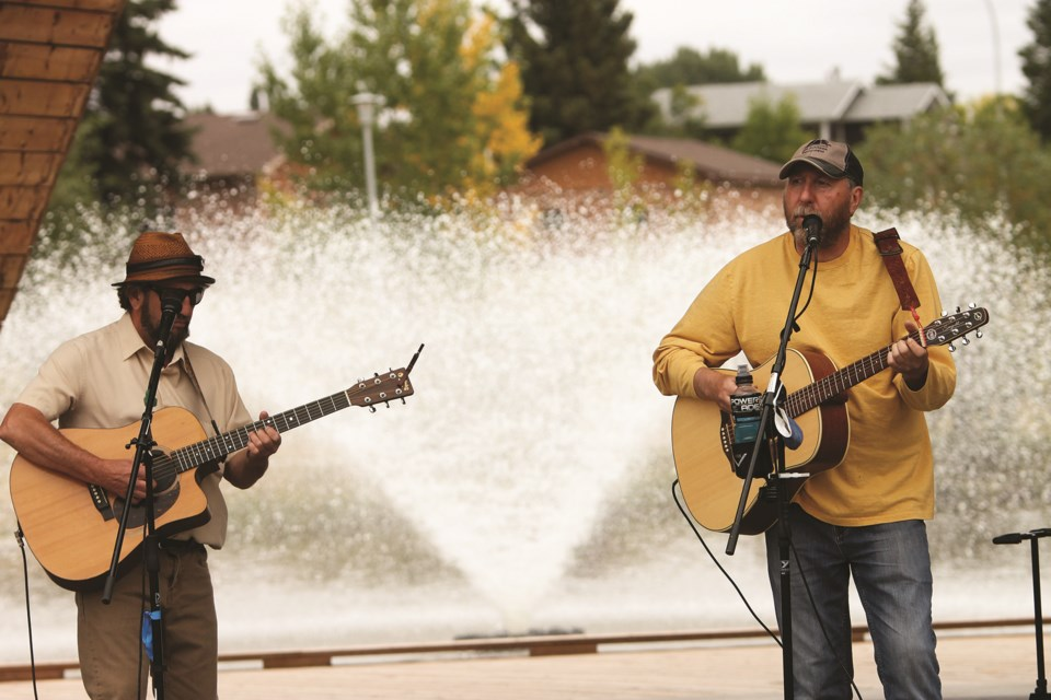 Musicians will perform in Airdrie throughout the next two weeks as part of the ARTember's Curbside Concert series, which kicked off Sept 12 with performances at the Nose Creek Pond amphitheater. Photo by Scott Strasser/Airdrie City View.