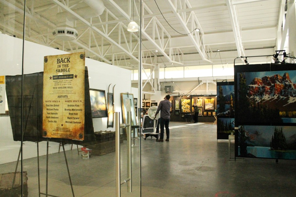 New Horizon Mall hosted the Back in the Saddle art exhibit Aug. 28 to 30, featuring works from western Canadian artists who typically showcase and sell their art at the Calgary Stampede. Photo by Scott Strasser/Airdrie City View.