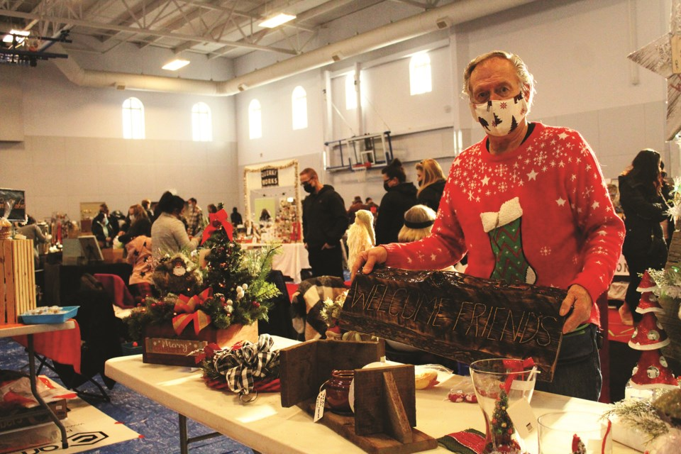 People came out in droves Nov. 21 to support local and regional entrepreneurs at the Balzac Christmas Market. Photo by Scott Strasser/Rocky View Weekly