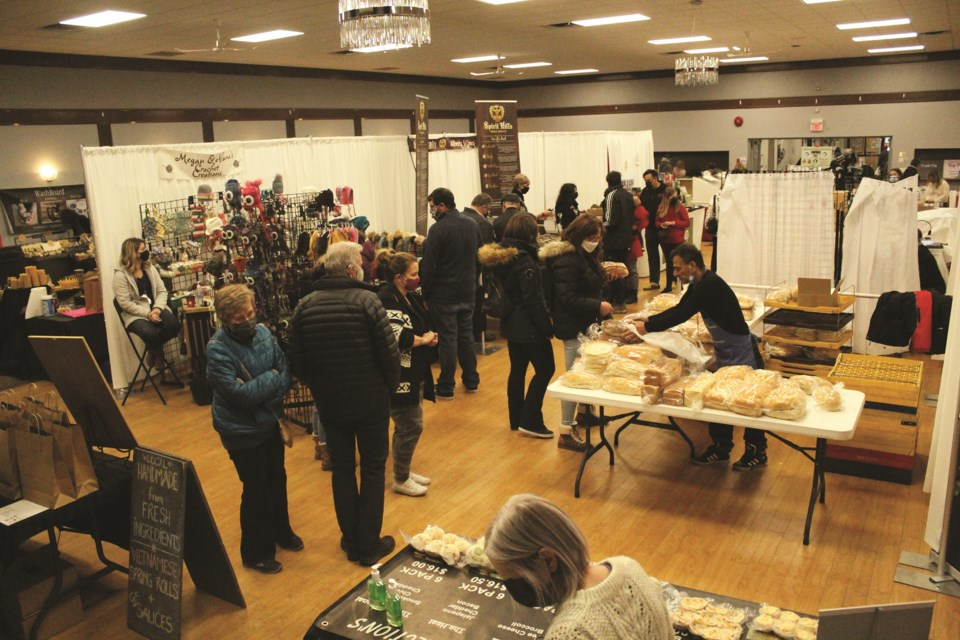 Airdronians had the opportunity to check a few items off their holiday shopping list Nov. 6 and 7 at the Airdrie Farmers' Market's annual Christmas Show. Photo by Scott Strasser/Airdrie City View.