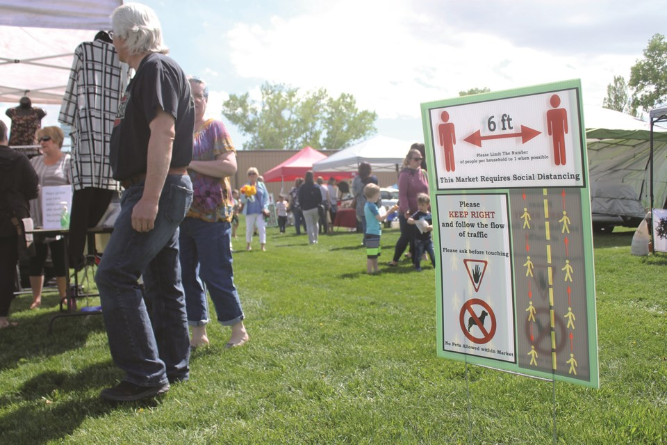 The Airdrie Farmers Market kicked off the 2020 season June 3, with safety measures in place due to COVID-19. Photo by Scott Strasser/Airdrie City View