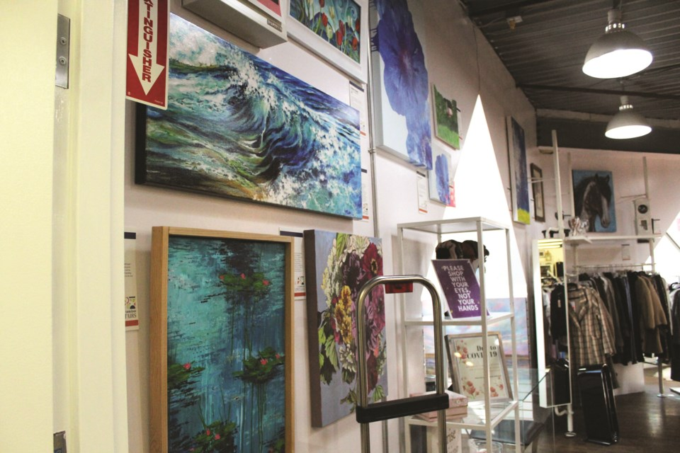As part of ARTember, the Store Upstairs in downtown Airdrie is showcasing the works of more than 30 local artists. The pieces are available for viewing from 10 a.m. to 6 p.m., while the store is open. Photo by Scott Strasser/Airdrie City View.