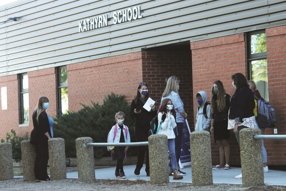 Students in Rocky View County returned to their classrooms for the first time in more than six months Sept. 2 to 4, with schools holding staggered starts to the 2020-21 school year. All students will return to classes Sept. 8. Photo by Scott Strasser/Rocky View Weekly.