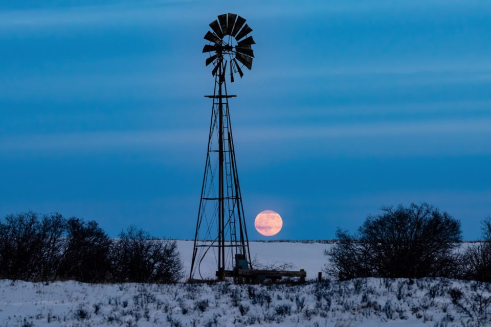 Rocky View County photographer Brian Mulder captured this shot of a moon rise in late December 2020, from 144 avenue N, on the county's border with Calgary.