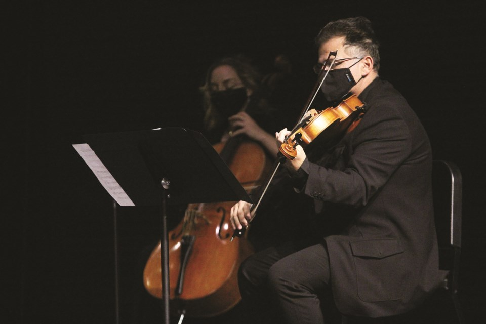 The Rocky Mountain Symphony Orchestra played its first concerts since the onset of the COVID-19 pandemic at the Polaris Centre for the Performing Arts Nov. 7 and 8. Photo by Scott Strasser/Airdrie City View