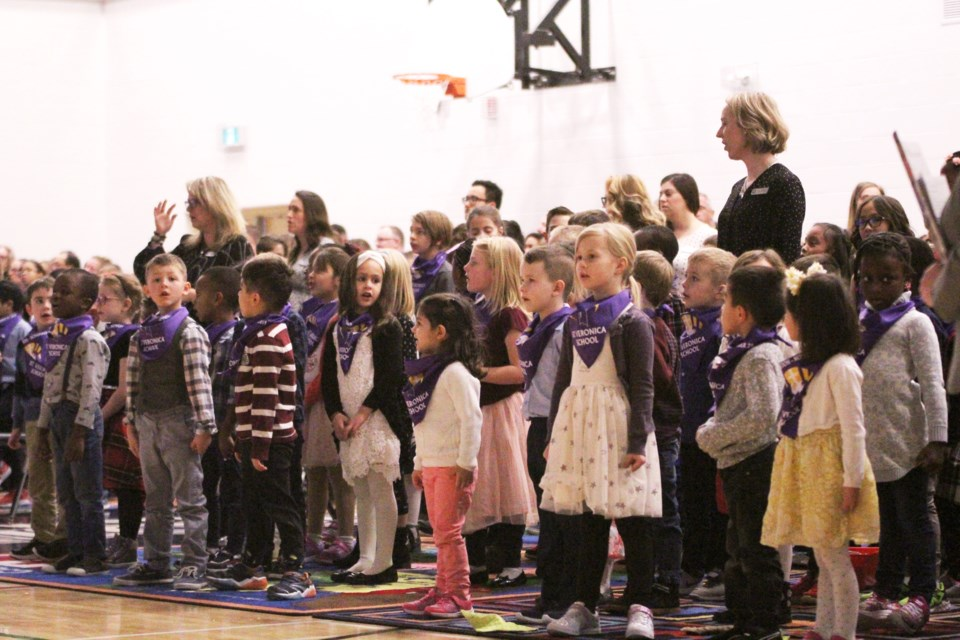 St. Veronica School in Morningside held a blessing and dedication ceremony Nov. 29, dedicating the new Catholic school to the patron saint. Photo by Scott Strasser/Rocky View Publishing