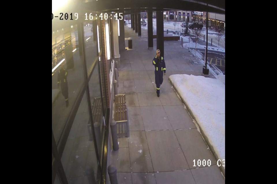 Airdrie RCMP are looking for assistance identifying this man suspected of stealing a truck Nov. 30. Photo Submitted/For Rocky View Publishing