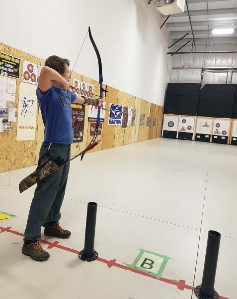 Dawson Molitor is one of three Airdronians that will be competing in archery at the Alberta Winter Games in Wood Buffalo this February.