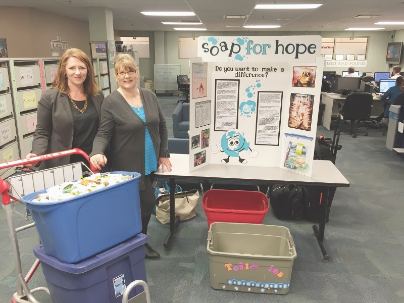 Shelley Adam and Michelle Edgar will be travelling to Nepal in May to help children access basic hygiene items and services.