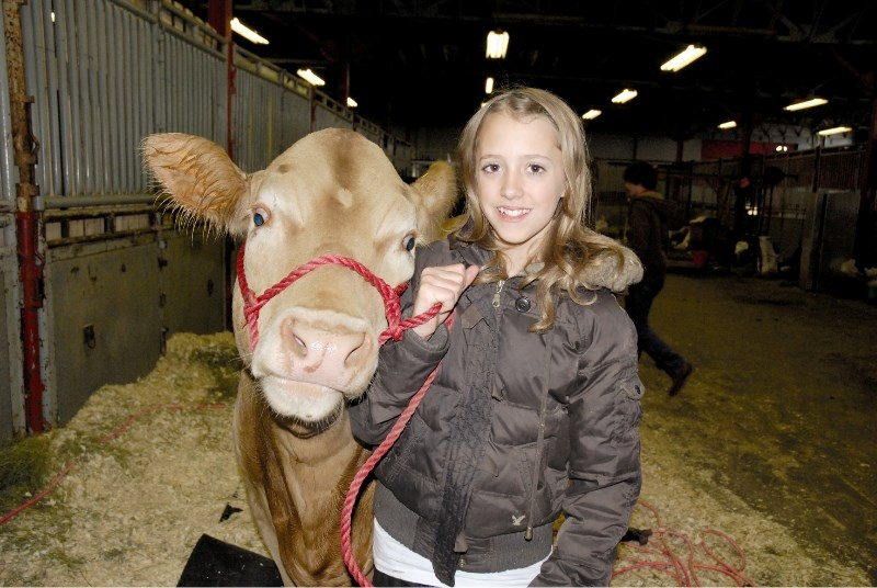 Rachel Drake of the Irricana Beef & Multi Club won Grand Champion Overall Steer at the 4-H on Parade show at the Calgary Stampede grounds, May 28-30.