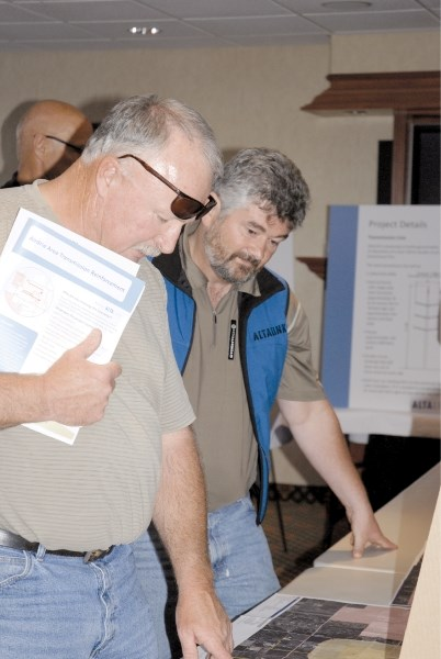 Local residents attended an AltaLink open house, held at the Holiday Inn Express, July 7. The open house was held to provide information and answer questions on the proposed