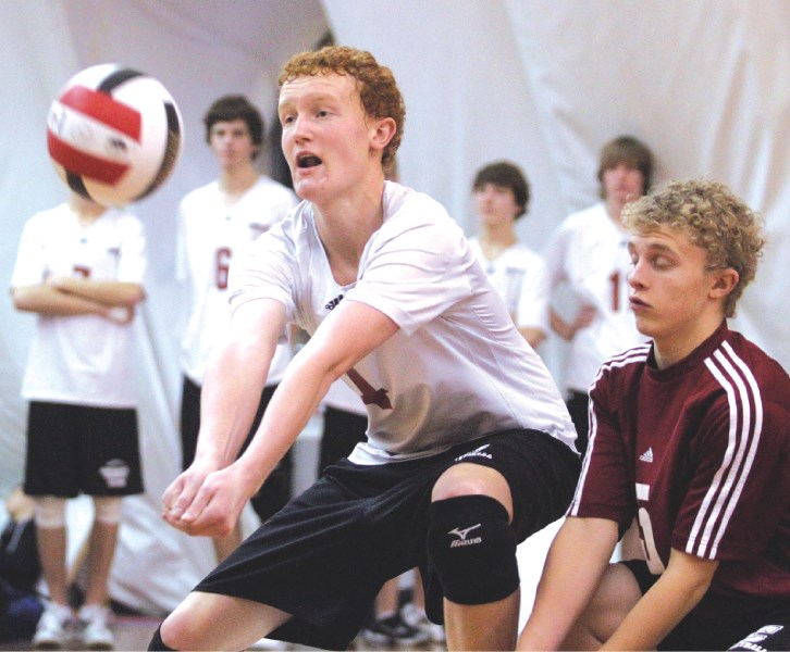 The Cochrane High School senior Cobras defeated the George McDougall Mustangs for the divisional championship, Nov. 6 at the Volleydome in Calgary. The team includes: Terin