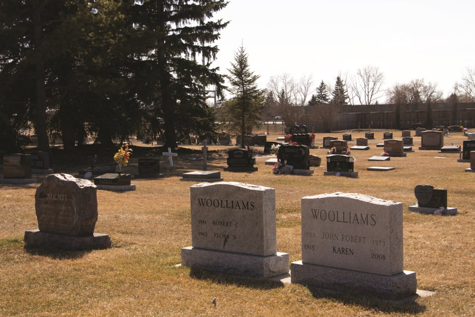 Airdrie City council was presented with a number of recommendations regarding future plans for its cemetery on April 6. Photo by Jordan Stricker/Airdrie City View