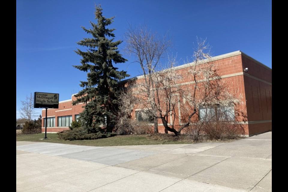 Delegates at the June 17 meeting of Rocky View Schools (RVS) Board of Trustees petitioned the board to change the name of George McDougall High School. File photo/Airdrie City View