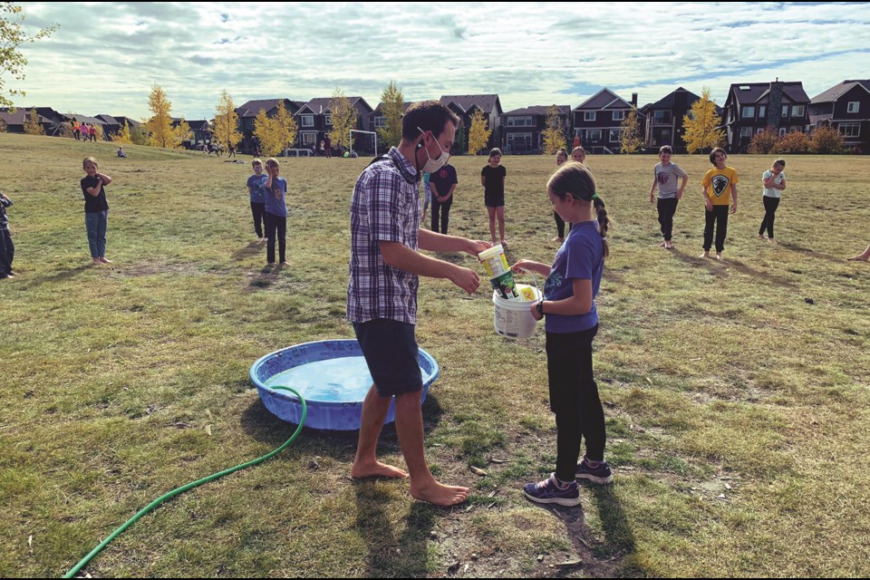 Students at Coopers Crossing School in Airdrie participated in the 40th anniversary of Terry Fox's Marathon of Hope in 2020 to raise money for cancer research. Photo submitted/For Airdrie City View