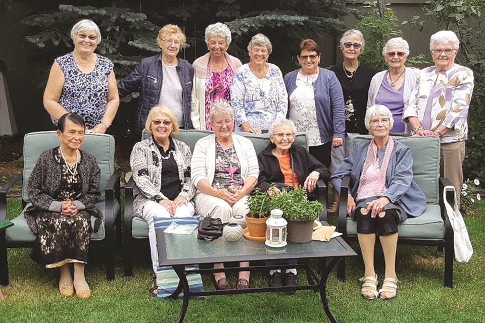 A ladies group that formed at St. Paul's Catholic Church in Airdrie called The Silver Bells share in each other's laughter, love, and loss during their regular gatherings. Photo submitted/For Airdrie City View