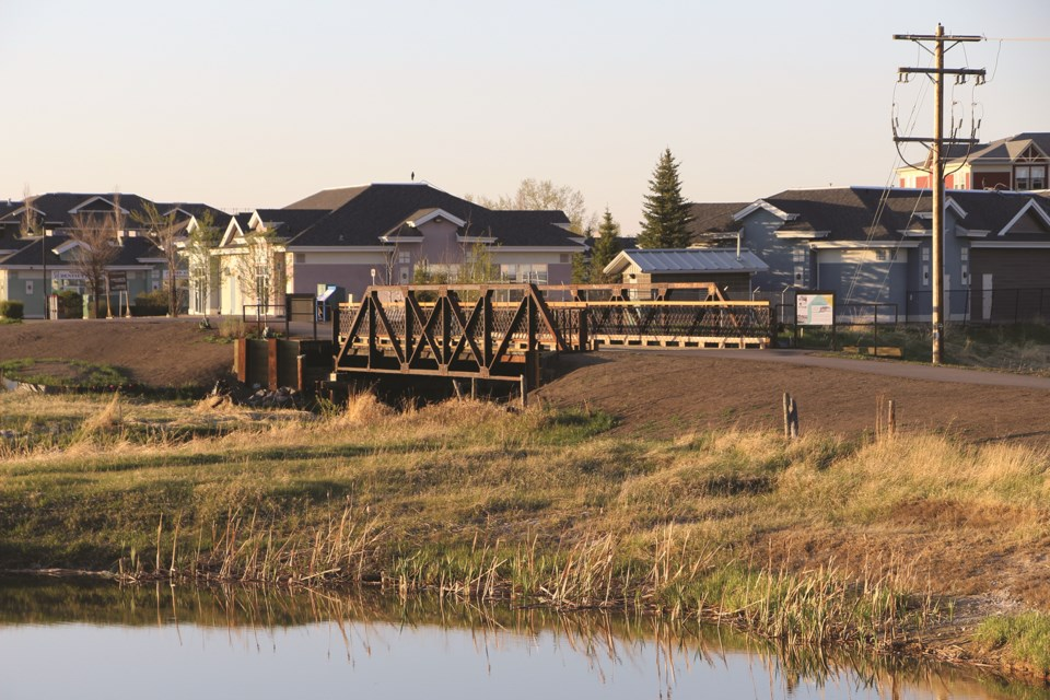 The Nose Creek Bridge is Airdrie's first Municipal Historic Resource and has been recently restored and reopened to foot traffic and cyclists.