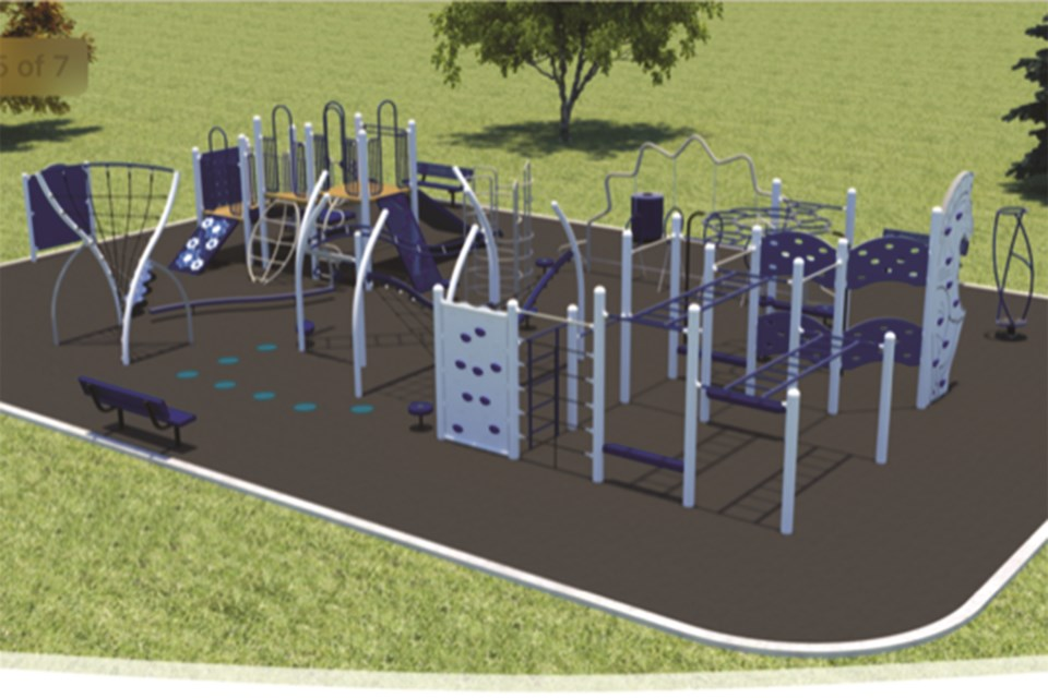 The new play structure at W.G. Murdoch School would be designed to be used by people of all abilities. Photo submitted/For Rocky View Weekly