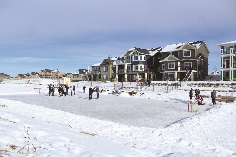 A look at the rink that won Modern Elevation's inaugural ice rink competition on Jan. 30. Photo by Scott Strasser/Airdrie City View