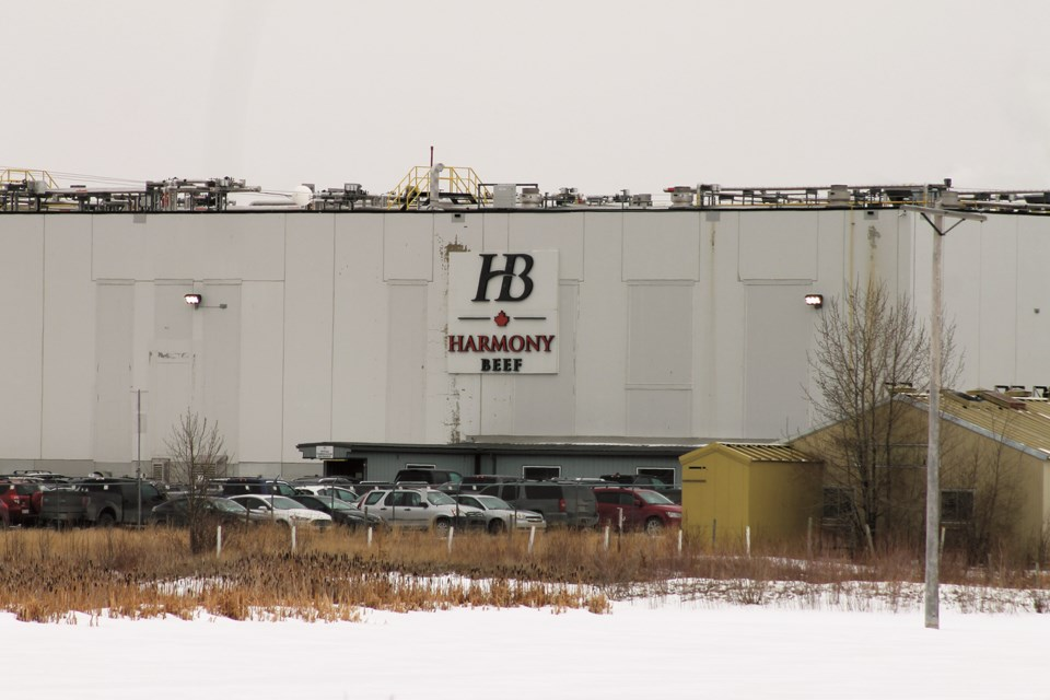 As part of the Alberta Government's vaccination plan, meat-packing plant workers across Alberta, including Harmony Beef in Balzac, will be inoculated this spring. File photo/Rocky View Weekly