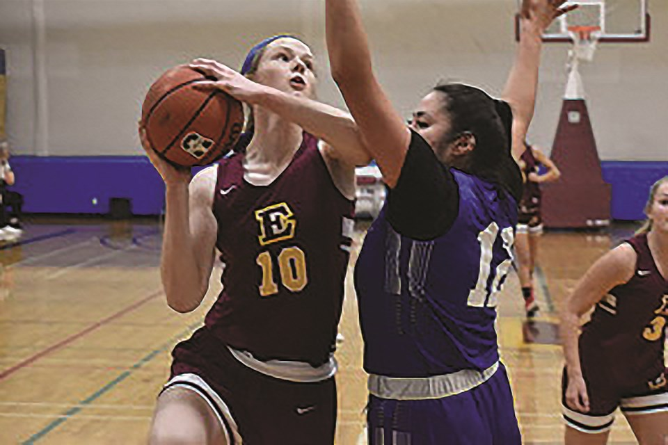 Airdrie local Julia Foster, left, is heading to the University of Prince Edward Island this fall on a basketball scholarship.