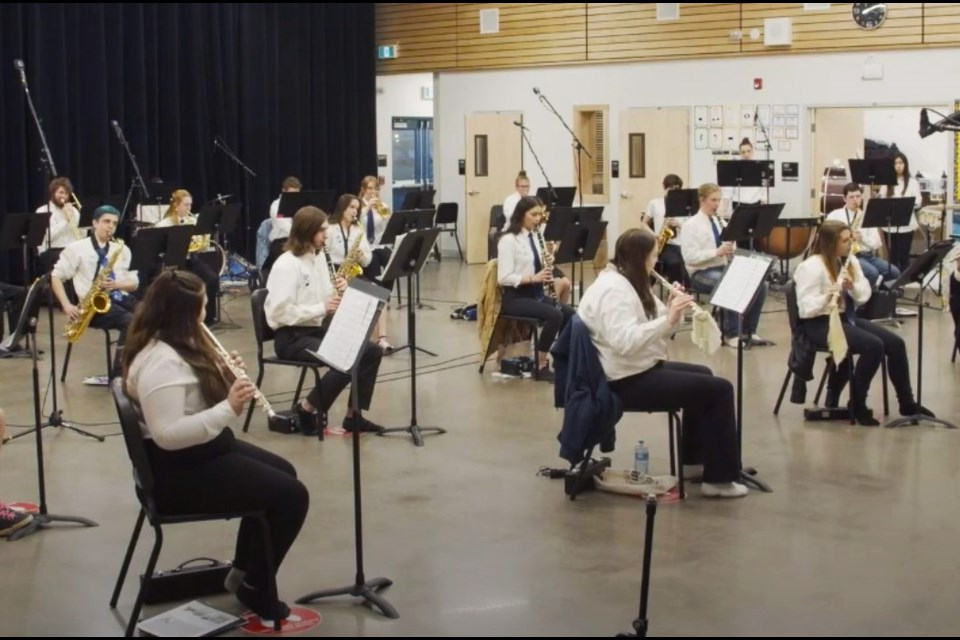 The SD60 Senior Concert Band got a silver grade for their performance in the Peace River North Festival.